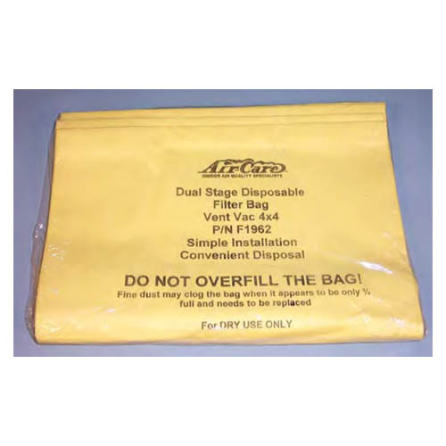 Air Care First and Second Dual Stage 15 Gallon Bag Filter w/3in Inlet (Disposable) 5pak F0051