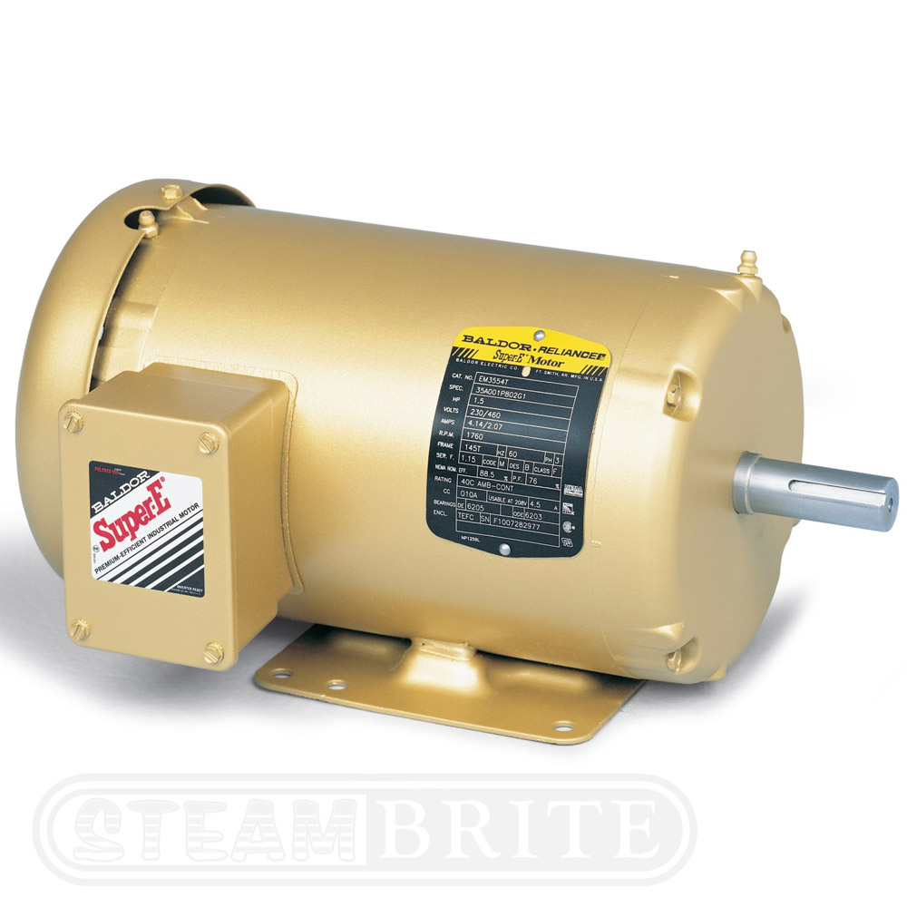Baldor motor em3616t 7 5hp triple phase 3450 rpm for Vfd for 5hp motor