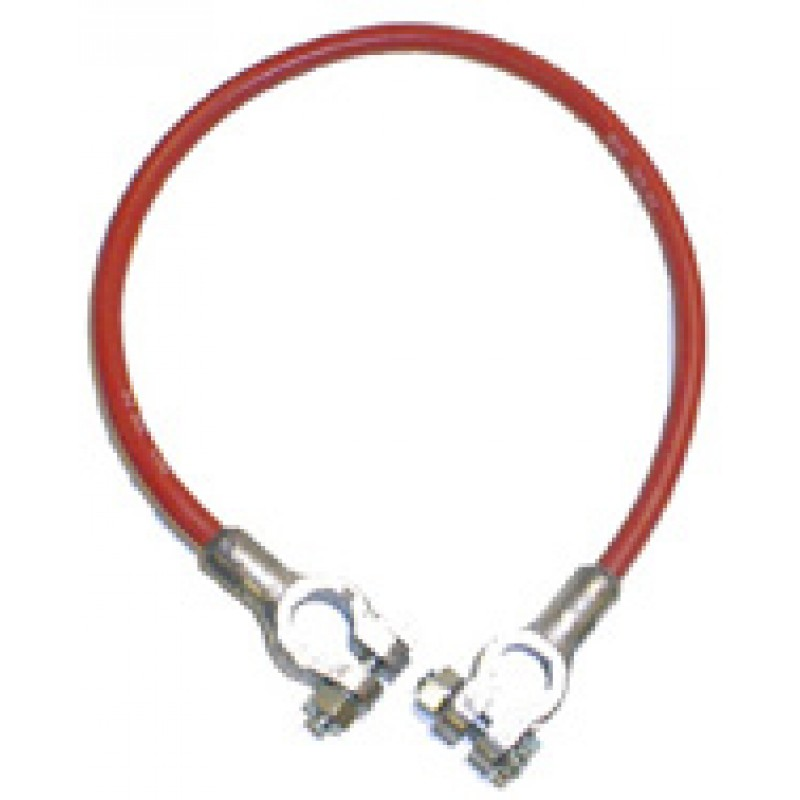 20 inch Battery Cable, Lug/Lug, 4 Gauge, Red (8.682-790.0) BCSN420