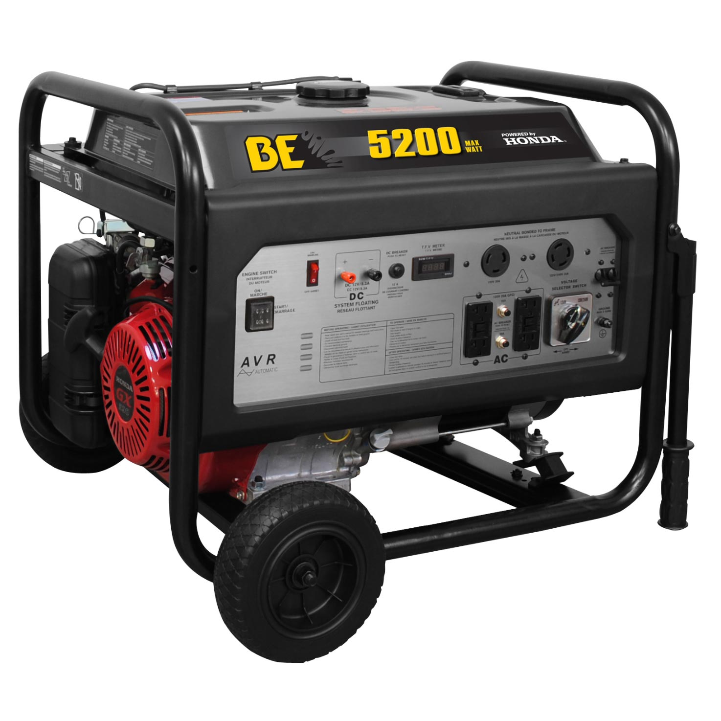 BE Pressure BE5200HR Honda 5200 Watt Electrical Generator
