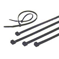 Zip Cable Tie Black 100 Pack 11 inches long X 50 lbs test 60277100