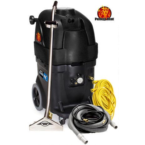 PowrFlite PFX1385MAX2 Starter Package 13gal 500psi Dual HEATED 2/3 Stage Vac Commercial Upright Extractor BLACK MAX Bundle