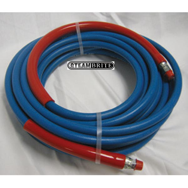 Pressure Washer Non Marking Blue Hose 3/8in X 100ft 6000psi 2 Wire Blue A Solid X Swivel ends - 8.921-156.0 - 89211560