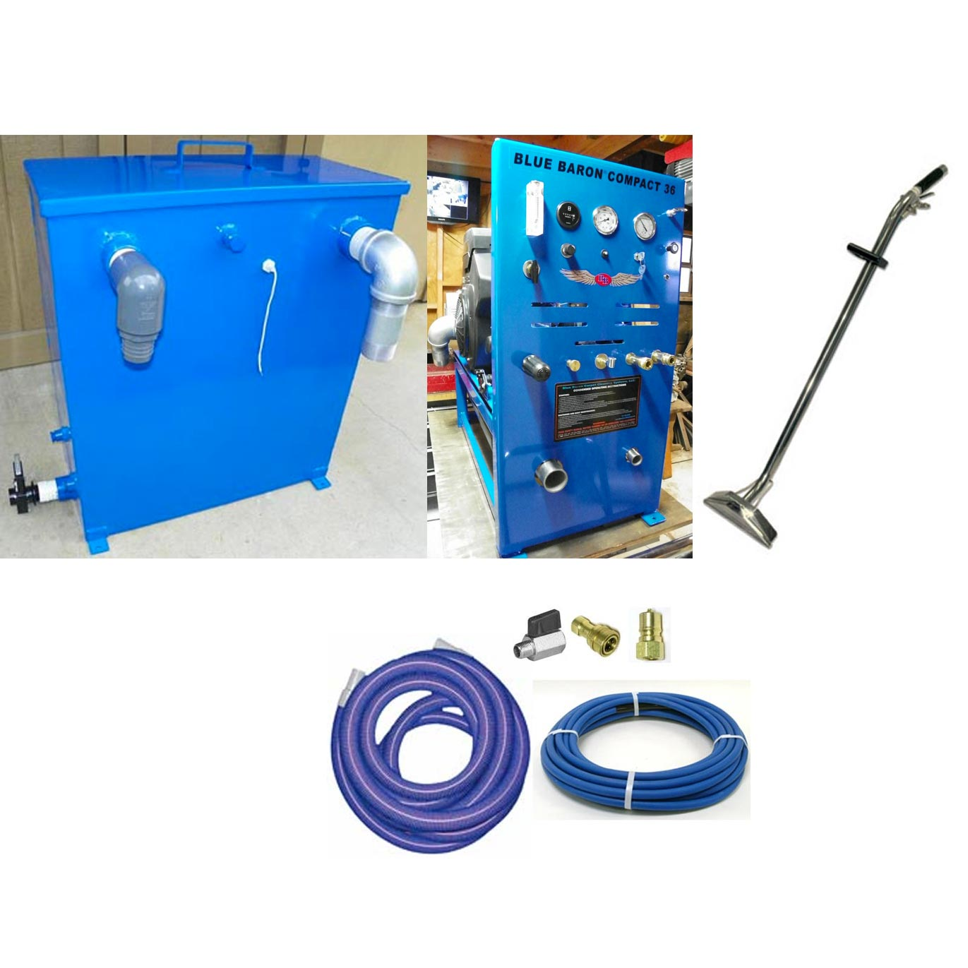 -Blue Baron Compact 36 Truckmount 23.5 Hp Belt Drive Starter Package In Stock  [BB Compact 36]