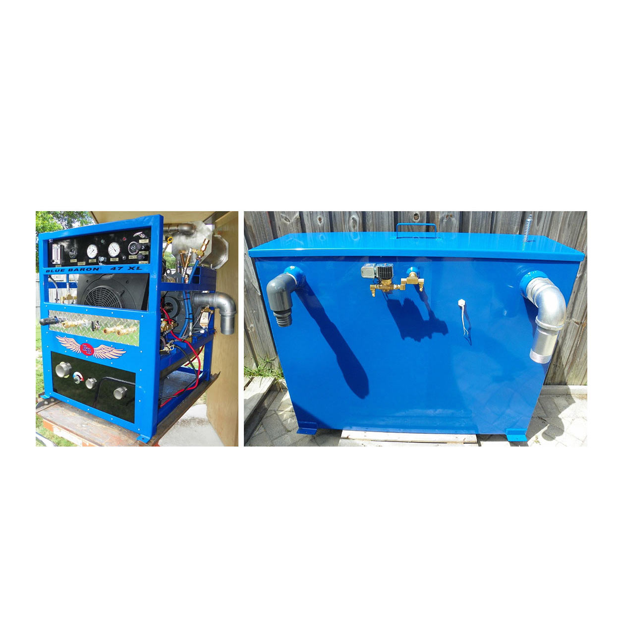 -Blue Baron 47XLMO 37 hp 4LR Blower Truckmount Machine Only (Cash Priced)