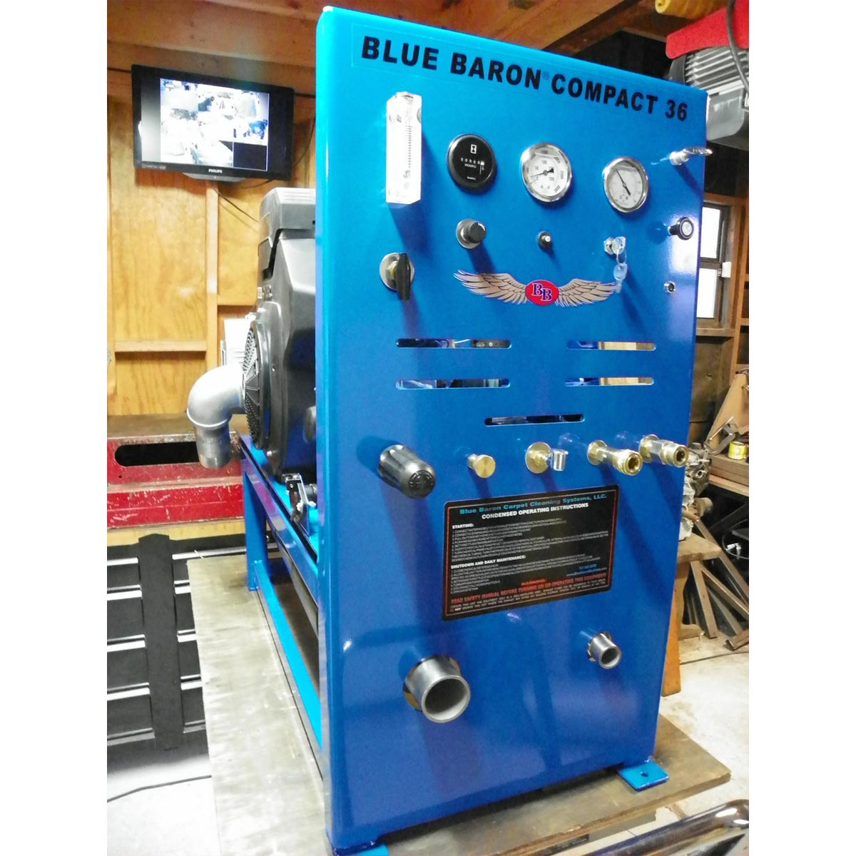 -Blue Baron Compact 36 Truckmount 23.5 Hp Belt Drive Deluxe Package (In Stock Today, Cash Priced) [Compact 36 Starter]