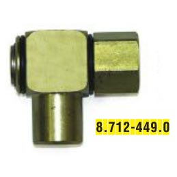 Karcher: Swivel, Right Angle, 1/2in, 3000psi/Brass - 8.712-449.0 -