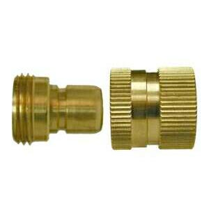 Brass Garden Hose QD Coupler Set 30450