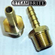 3/8in Mip X 1/4in Hose Barb Brass Straight - 8.705-102.0 - 140355 - 32-006