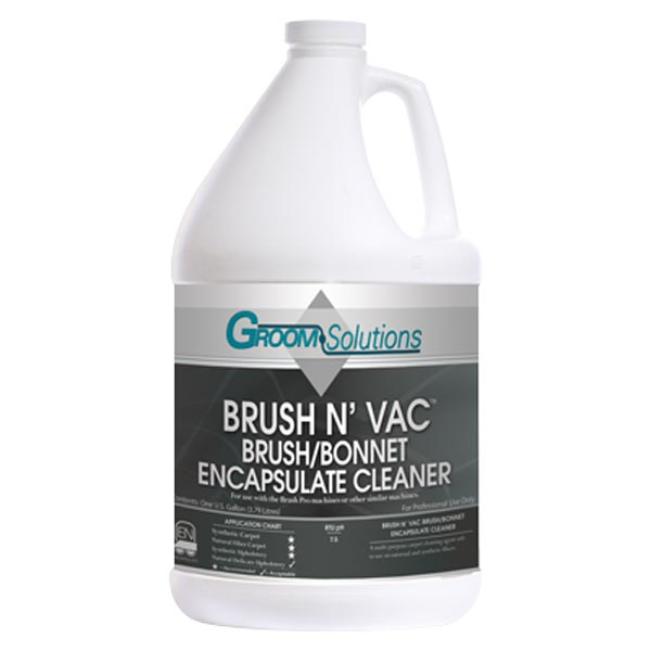 Groom Solutions CC33GL-4 Brush N Vac Encapsulation Cleaner 4 gallon Case