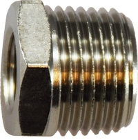 28875  3/8M BSPT X1/4 BSPP NICKEL PLATED Brass BUSHING