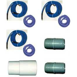 -Clean Storm Hose Set 115 ft  (Dual 50 ft 2 in + 15 ft of 1.5in ID Vacuum & 1/4 in 3000 psi Solution) with Connections and QD's 20121212