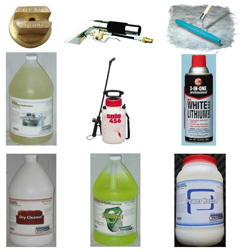 Carpet Cleaners Basic Accessory Starter Kit 1 (Rake, Cleaners, Pump Up Sprayer) SBMKit1
