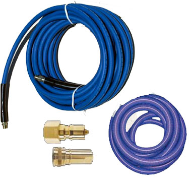 Clean Storm Hose Set 25ft  X 1.5in Vacuum 1/4in Solution QD installed Bundle [150-53]  48-075  8.624-189.0  2541AC  2540AC-HP
