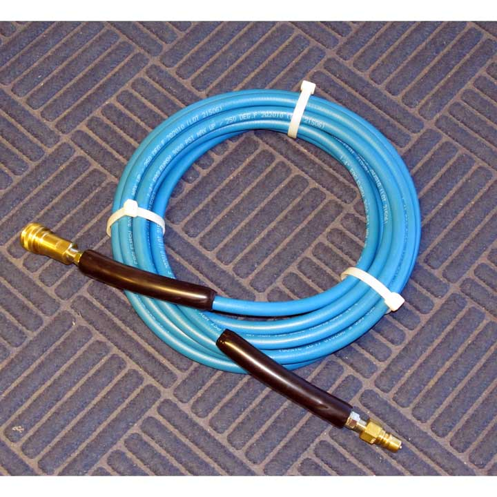 Clean Storm H0100: 100 ft sol. Hose w/ brass Quick Disconnects Carpet and Tile Cleaning Solution Hose Assembly