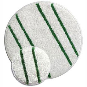 Steam Brite 8 inch 2 PACK ROTARY YARN BONNET LOW PROFILE with agitation stripe Tiger Carpet Cleaning Bonnet Pad pair