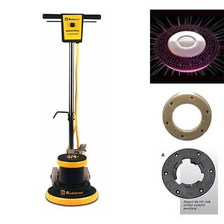 Koblenz: 15 Inch Carpet Shampooer Power Scrub Floor Buffer Start Up