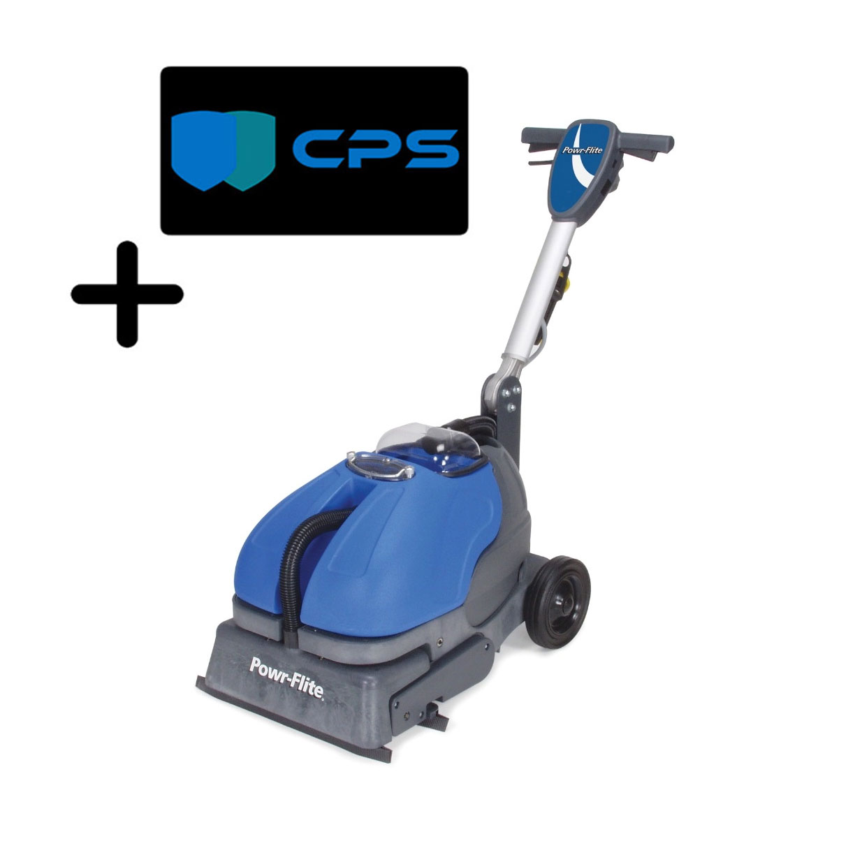 PowrFlite CAS16 W Compact Automatic Scrubber 16in Wide Grout Cleaner Powerflite Powr-Scrub 3 Yr Warranty And Freight Included