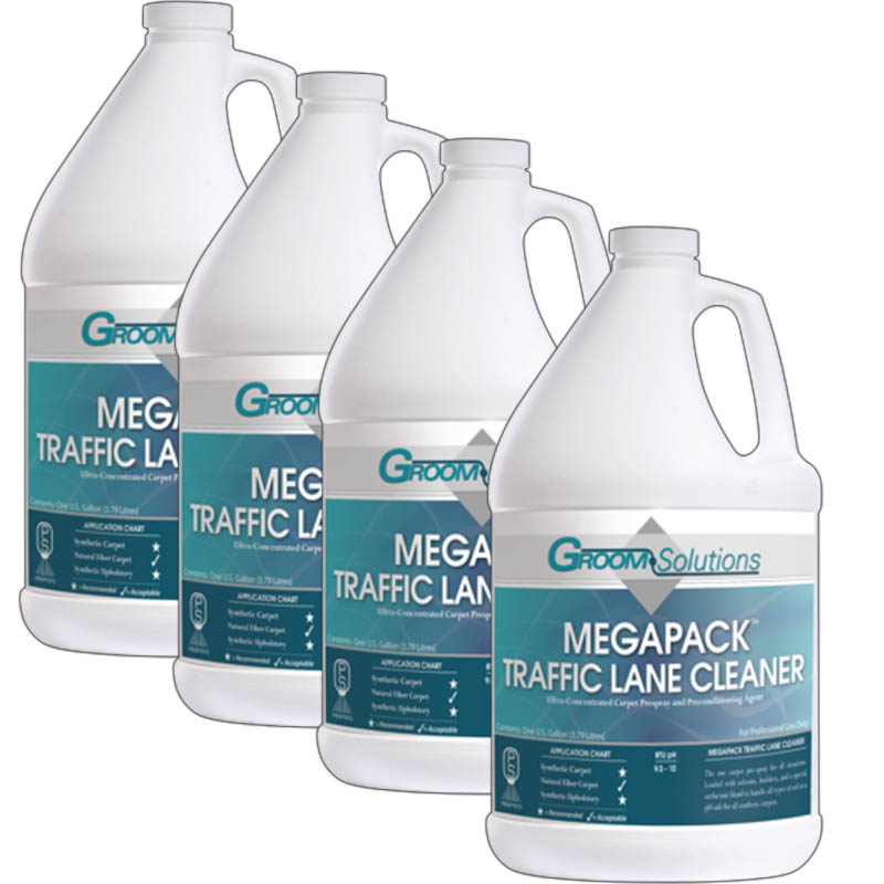 Groom Industries: Megapack Traffic Lane Cleaner - Case of 4 Gallons