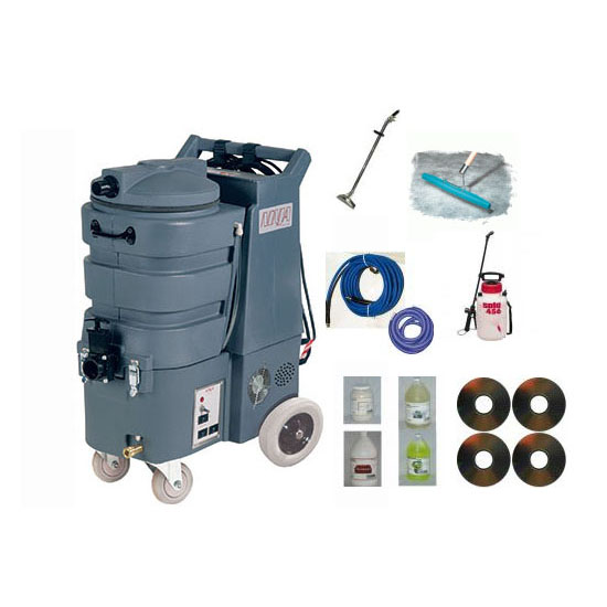 Esteam NJA200-10 Ninja Classic 11gal 200psi HEATED Dual 2 Stage Vacs 411-222H Carpet Extractor Starter Package Included Shipping 1.007-029.0