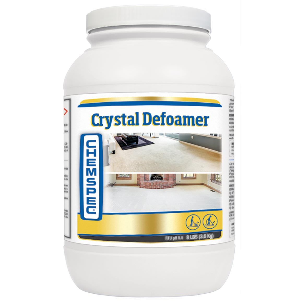 Chemspec C-CD32 Crystal Defoamer 4 X 8 lbs Jar CASE Powder Included Shipping Prevents Foam Build Up