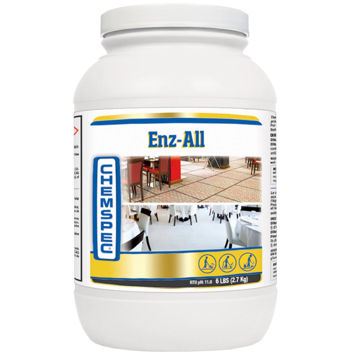 Chemspec C-EA24 Enz-All Powder Clean 24 lbs /Case 4/6 lbs Jars Enzall (Discount Shipping)