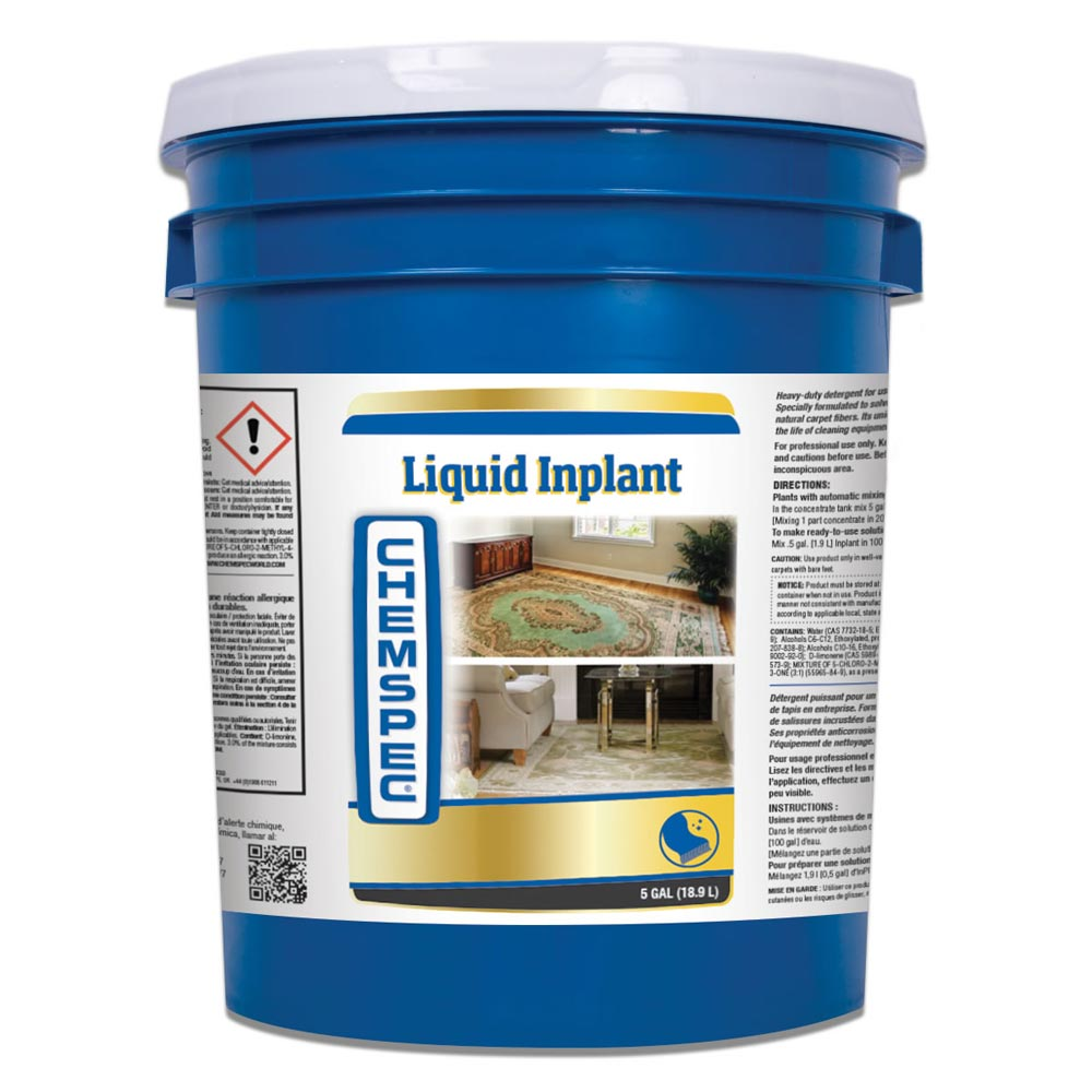 Chemspec C-LIIN5G Liquid Inplant 5 Gal Pail Area Rug And Wool Cleaner