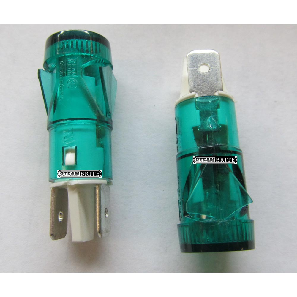 Circuit Locator Green Neon LED Light 120-240 volts AC 1/4in EZ Disconnects SBM8359 1/2in Hole Mounting SBM8359