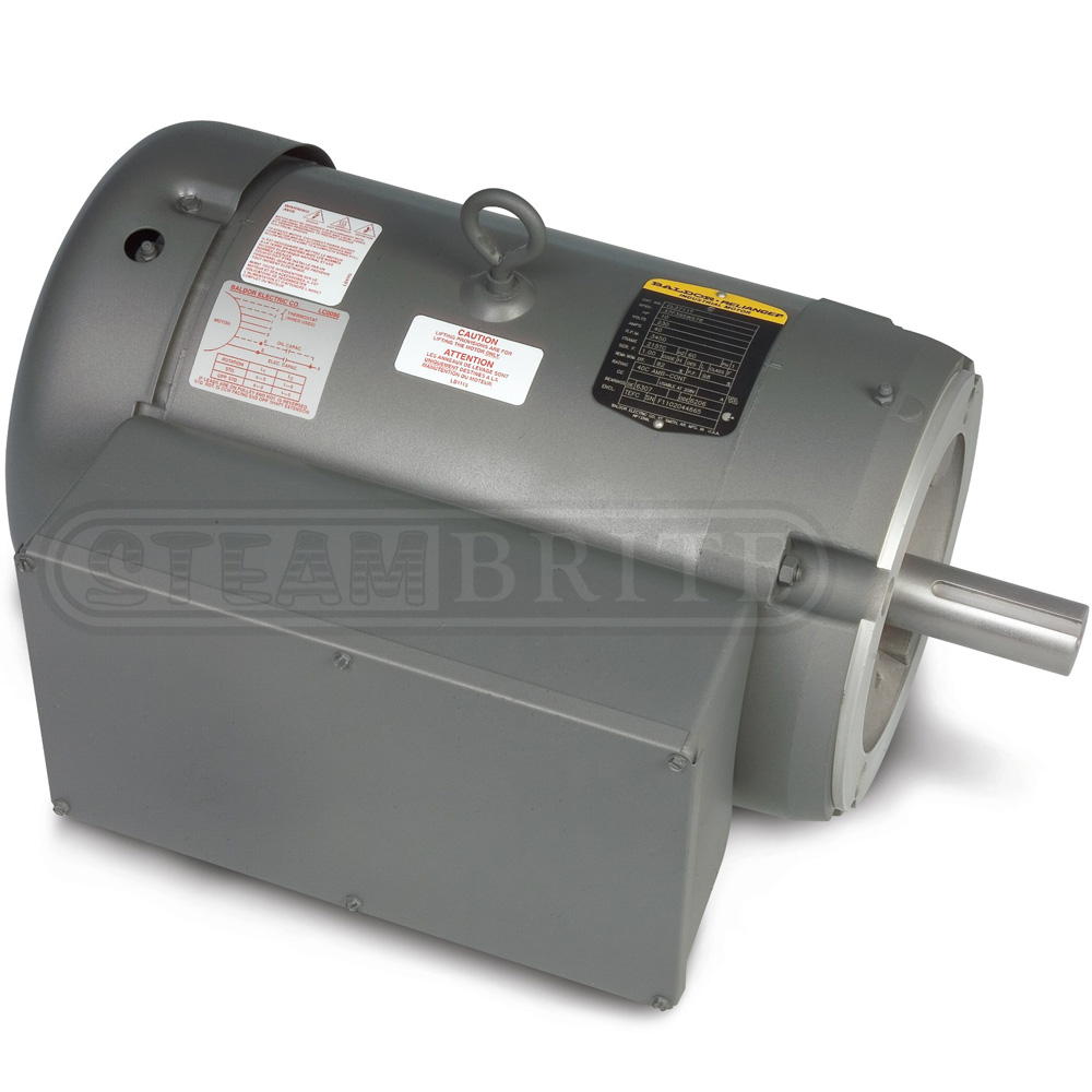 Baldor motor cl3619tm 3 0hp single phase 1725 rpm 184tc for 3 phase motor hp to amps