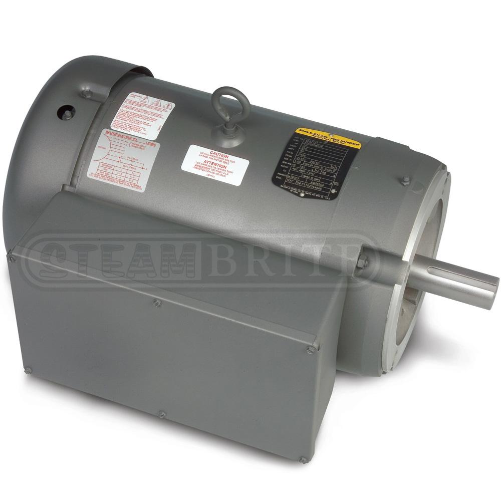 Baldor motor cl3619tm 3 0hp single phase 1725 rpm 184tc for 1 hp motor amps