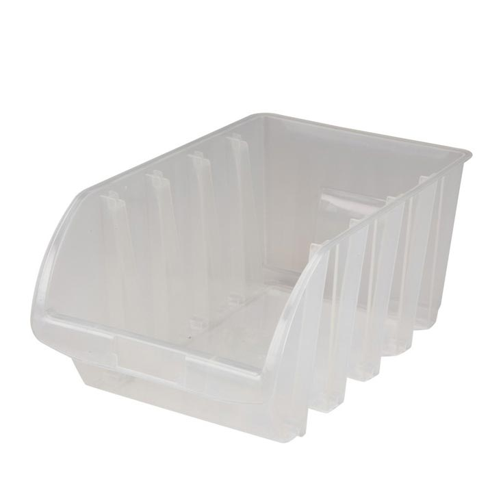 Clear Stacking Parts Bin 12-3/4in X 8-1/4in X 6in H 15lbs Working Load 783490327