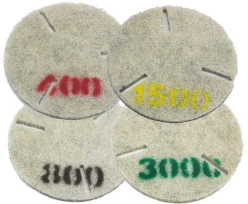 Rotovac 12-Diamond-3000 Marble and Natural Stone polishing pad for use with RA-209 on 360i machine