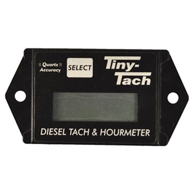 Tiny Tach DTL-6 For Deisel Engines with a 6mm Size Transducer Hour Meter / Tachometer