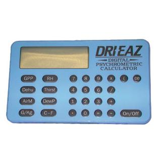 Dri-Eaz Psychrometric/Dehumidifier Calculator for water damage restoration