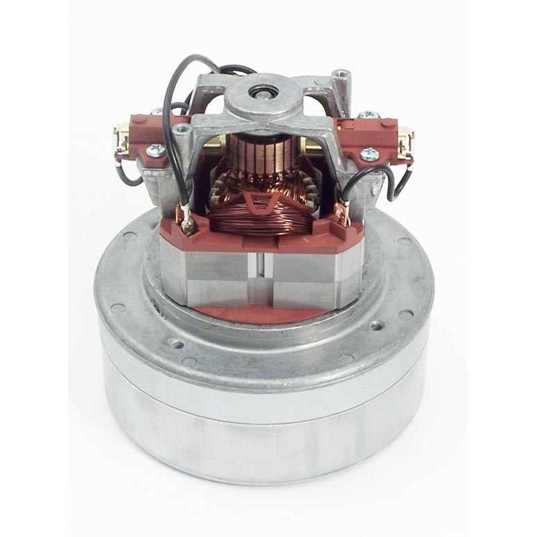 Domel D4963446 Vacuum Motor 120V 2 Stage 5.7in Diameter Thru-Flow 496.3.446