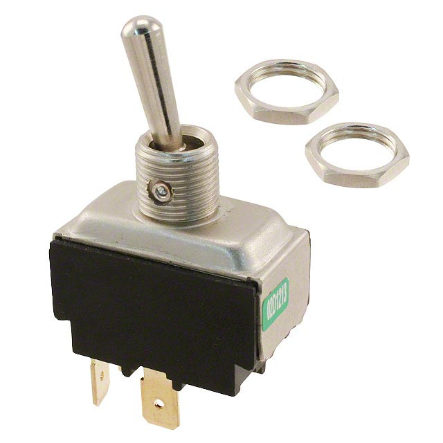 "Toggle Switch DPST with Four 1/4"" Male EZ connection 20 amps 125 volts Stainless steel"