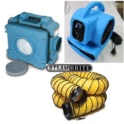 Drieaz F284 Defend Air Hepa 500 Air Scrubber Plus 8In Ducting Freight Included Clean Storm Air Scrubber Bundle 284382