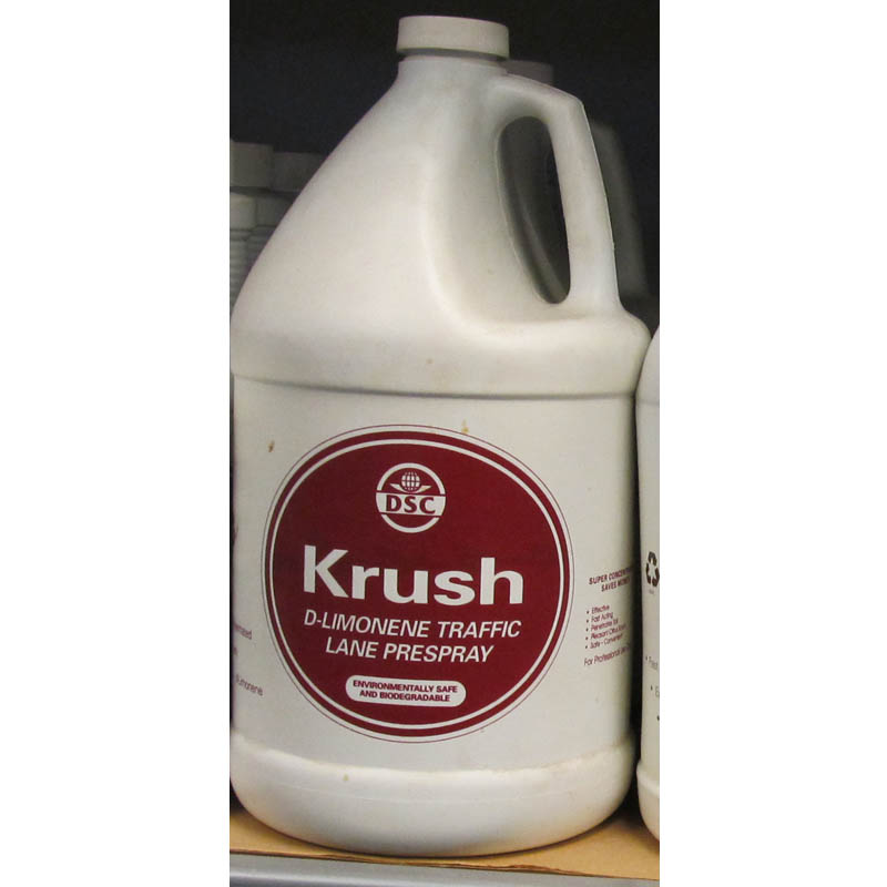 DSC Products Krush D-Limonene Traffic Lane Prespray 2 Cases/8 Gallon