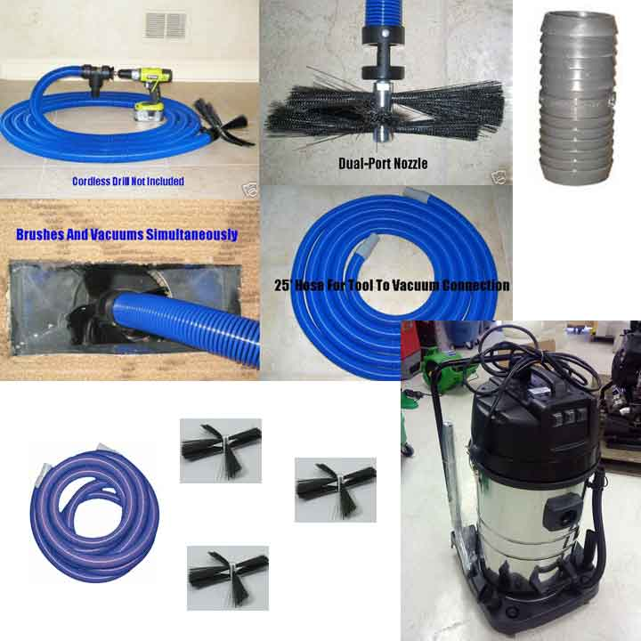 Clean Storm Air Duct Motobrush Starter Package With Hepa