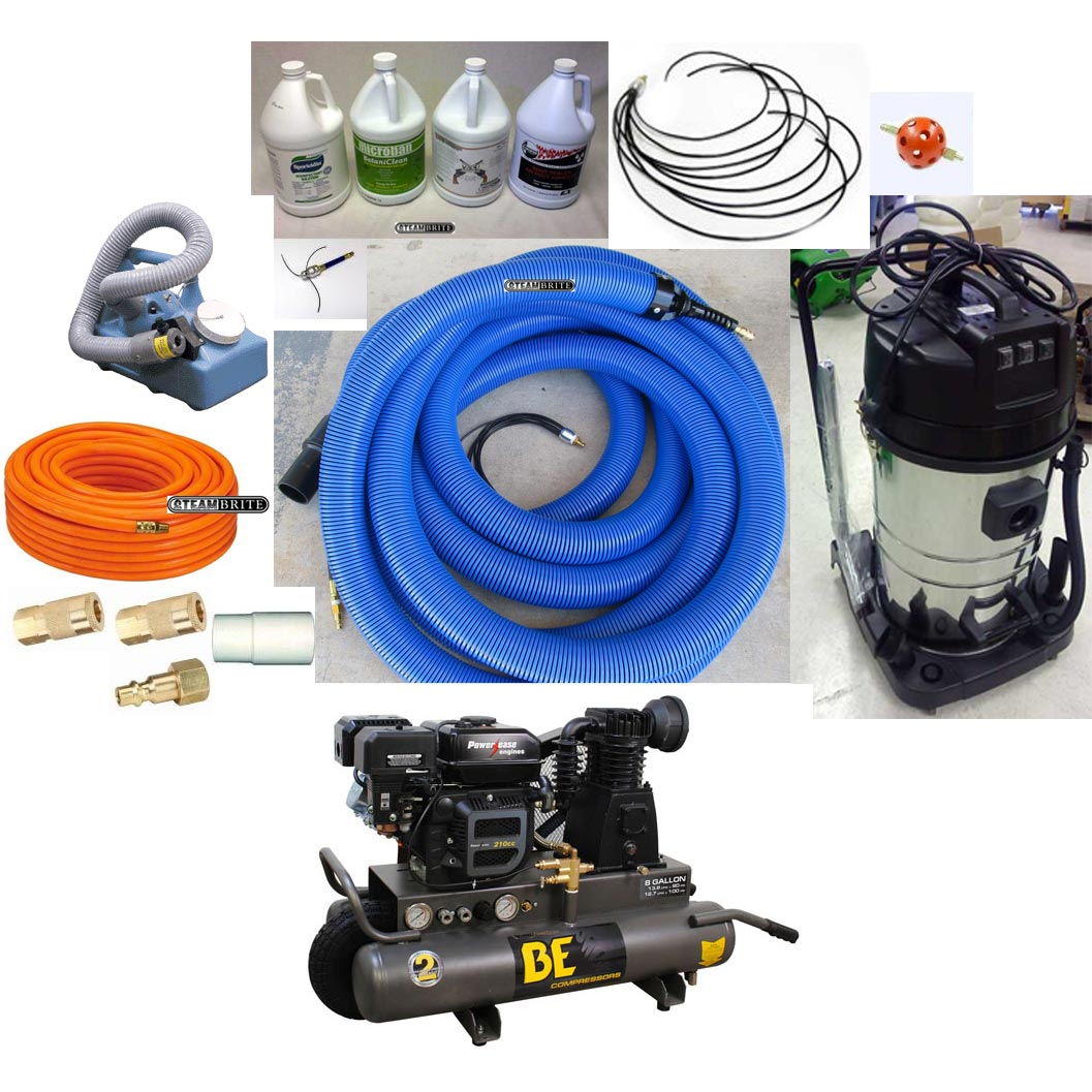 Clean Storm Vacu-Whip Air Duct Cleaning Attachment 33 ft Complete Starter Kit 20151118
