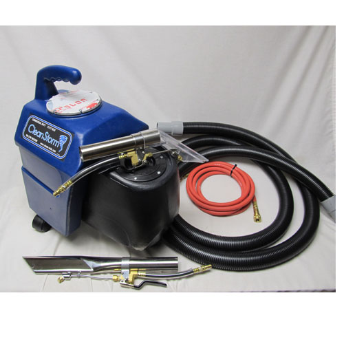 -Clean Storm 2.4gal 60psi HEATED Car Cleaning Machine Auto Detail Spotter Extractor With Tools and Filter Bag 120volt