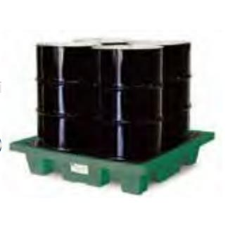 Spill Containment Eco-Efficient 4-Drum Poly-Spillpallet 8.752-588.0 Slim Line 6000