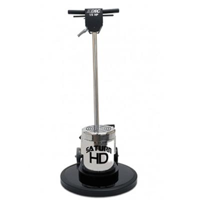 EDIC 15LS4-BK Saturn Low Speed 15in 1.5 HP 175 RPM Floor Machine Black Powder Coated Steel Brush Cover Apron FREE Shipping