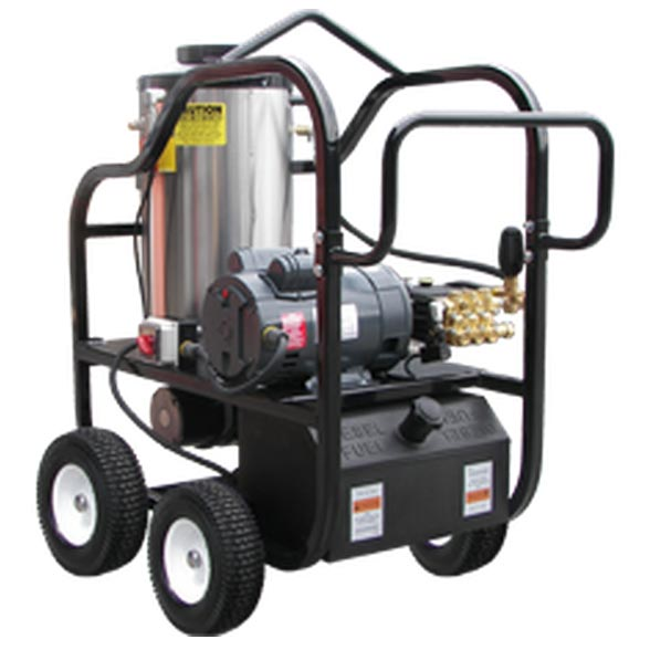 Pressure Pro 3230-30A1 3gpm 3000psi Electric Hot Pressure Washer With Portable Cart and Tank 6HP 26amp 230 volt