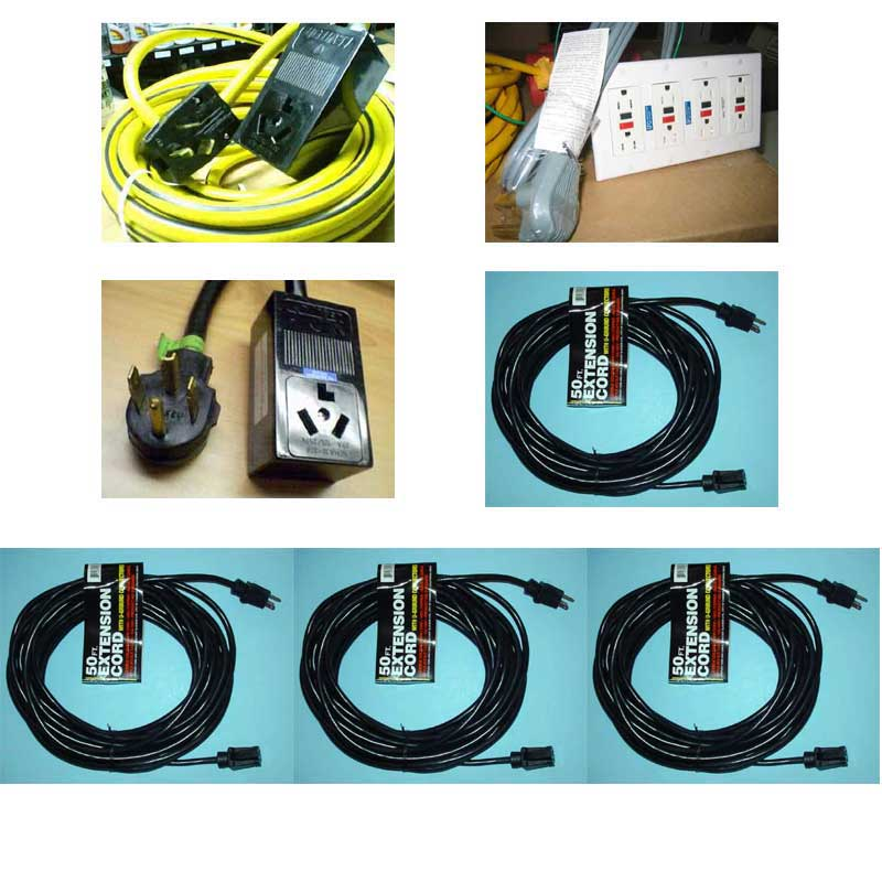 Electric Converters for Electric Truckmounts (ETM) Extension Power Cord Start Up Kit Adaptors