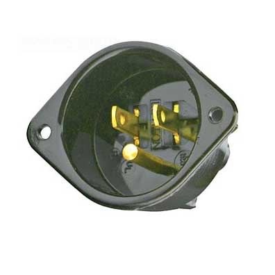 ThermaStor Flat electrical receptacle for air scrubbers and related cleaning equipment Recessed Male Plug 5-15P SBM5239