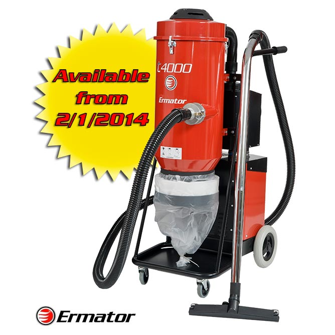 Ermator T4000 Hepa 3 Phase 230 Volt Dust Collector Extractor