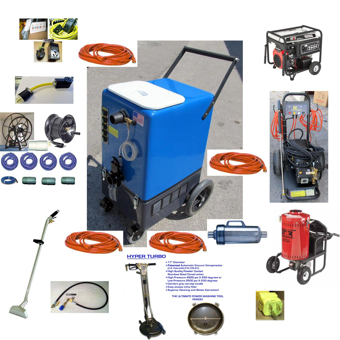 -DriStorm Goliath Quad 6.6 Flood Pumper 26gal STARTER PACKAGE 22.1Hp 2100psi Live Steam Pressure Washer Recovery 120v Synergistic
