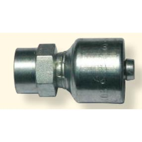 Hydraulic Hose Crimp Fitting 1/4 in Hose X 1/4in Fpt Solid Rigid 8.726-098.0 4G-4FP