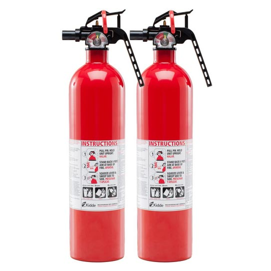 Kiddy Twin Pack Fire Extinguisher Model KFH/TWIN Item 468062